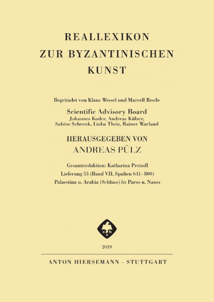 Reallexikon zur byzantinischen Kunst (RbK) - Band 7, Lieferung 53
