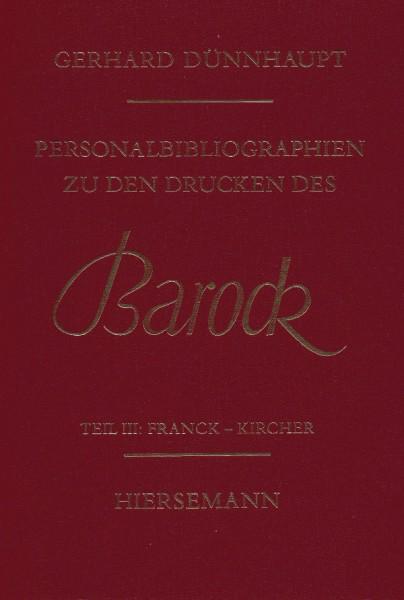 Personalbibliographie zu den Drucken des Barock