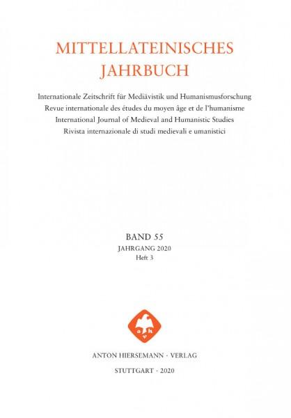 Mittellateinisches Jahrbuch Band 55, Heft 3 (2020)