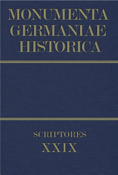 Monumenta Germaniae Historica Scriptores in Folio Band 29