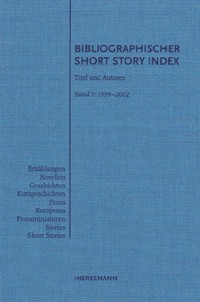 Bibliographischer Short Story Index