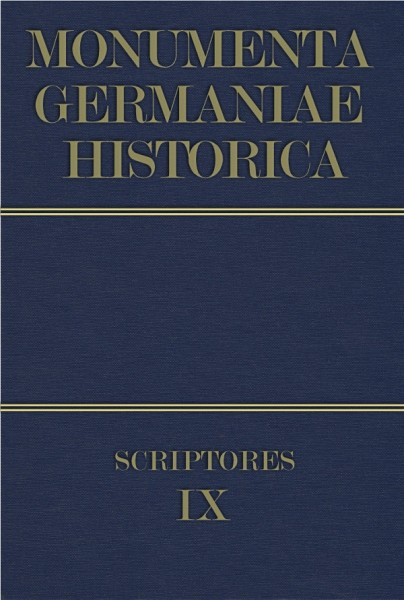 Monumenta Germaniae Historica Scriptores in Folio Band 9