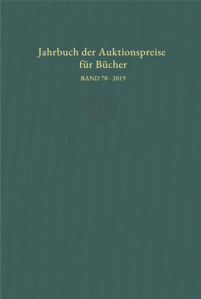 Jahrbuch Auktionspreise Bücher Band 70