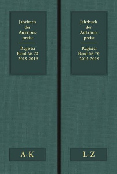 Jahrbuch der Auktionspreise für Bücher Registerband