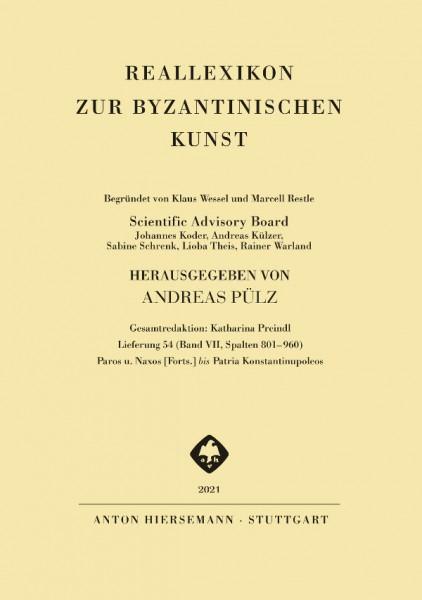 Reallexikon zur byzantinischen Kunst (RbK) - Band 7, Lieferung 54