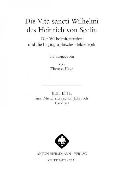 Vita sancti Wilhelmi Heinrich Seclin