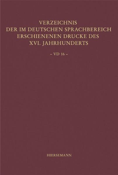 Verzeichnis der im deutschen Sprachbereich erschienenen Drucke des 16. Jahrhunderts (VD 16)