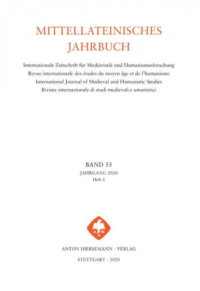 Mittellateinisches Jahrbuch Band 55, Heft 2 (2020)