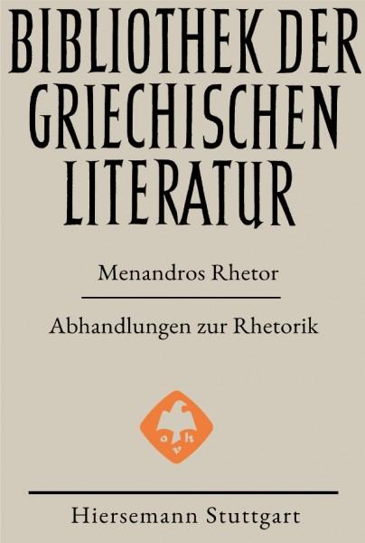 Abhandlungen zur Rhetorik - Menandros Rhetor