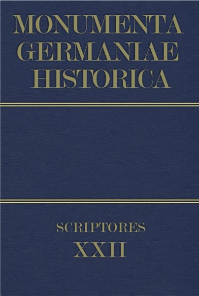 Monumenta Germaniae Historica Scriptores in Folio Band 22
