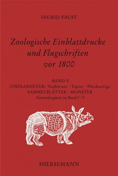 Faust Zoologische Einblattdrucke