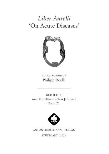 Liber Aurelii On Acute Diseases