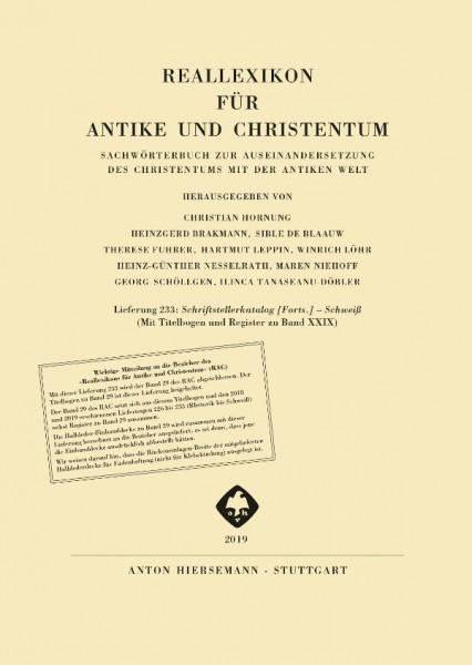 Reallexikon für Antike und Christentum, Band 29, Lieferung 233