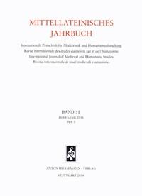 Mittellateinisches Jahrbuch. Internationale Zeitschrift für Mediävistik und Humanismusforschung