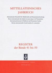 Mittellateinisches Jahrbuch. Internationale Zeitschrift für Mediävistik und Humanismusforschung / Mi